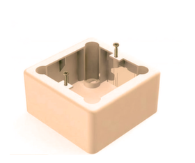 Для монтажа терморегуляторов Комплектующие Корбка для наружного монтажа терморегулятора кремовая