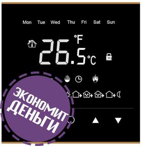 Сенсорный терморегулятор черного цвета Warmlife