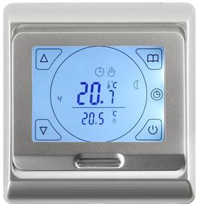 сенсорный терморегулятор e91 серебряного цвета