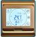 сенсорный терморегулятор e91 золотого цвета